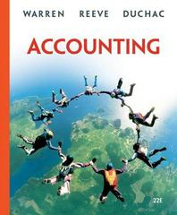 Accounting 22nd edition 9780324401844 0324401841