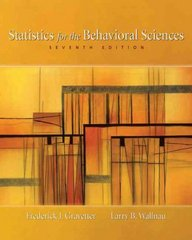 Statistics for the Behavioral Sciences 7th edition 9780495095200 0495095206