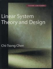 Linear System Theory and Design 3rd edition 9780195117776 0195117778