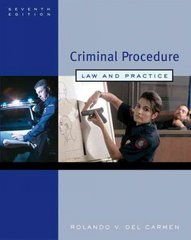 Criminal Procedure 7th edition 9780495006008 0495006009