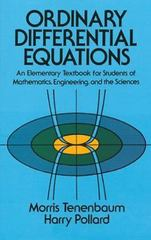 Ordinary Differential Equations 1st Edition 9780486649405 0486649407
