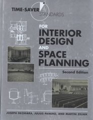 Time-Saver Standards for Interior Design and Space Planning 2nd edition 9780071346160 0071346163
