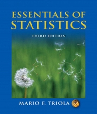 Essentials of Statistics 3rd edition 9780321434258 0321434250