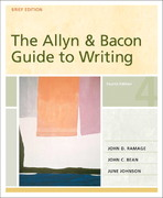 The Allyn and Bacon Guide to Writing 4th edition 9780321291516 0321291514