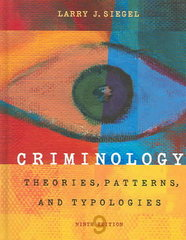 Criminology 9th Edition 9780495005728 049500572X