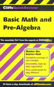 CliffsQuickReview Basic Math and Pre-Algebra 1st edition 9780764563744 0764563742