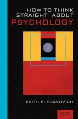 How to Think Straight about Psychology 8th Edition 9780205485130 0205485138