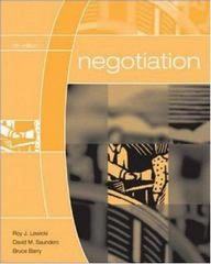 Negotiation 5th Edition 9780072973075 0072973072