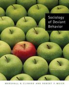 Sociology of Deviant Behavior 13th edition 9780495093350 0495093351