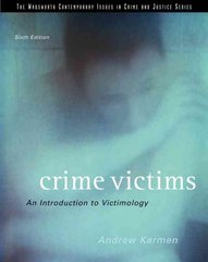 Crime Victims 6th edition 9780495006039 0495006033