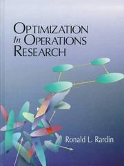 Optimization in Operations Research 1st Edition 9780023984150 0023984155