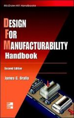 Design for Manufacturability Handbook 2nd edition 9780070071391 007007139X