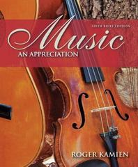Music:  An Appreciation, Brief Edition 6th Edition 9780073401348 007340134X