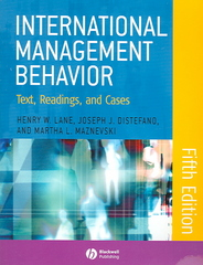 International Management Behavior 5th edition 9781405126717 140512671X