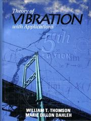 Theory of Vibrations with Applications 5th edition 9780136510680 013651068X