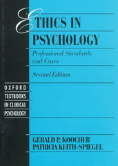 Ethics in Psychology 2nd Edition 9780195092011 0195092015