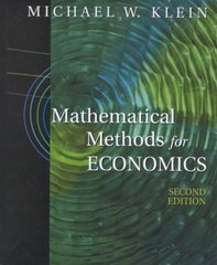 Mathematical Methods for Economics 2nd edition 9780201726268 0201726262