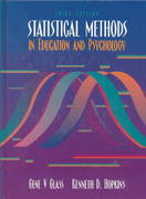 Statistical Methods in Education and Psychology 3rd edition 9780205142125 0205142125
