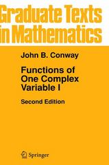 Functions of One Complex Variable I 2nd edition 9780387903286 0387903283
