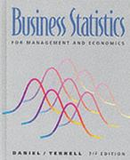 Business Statistics for Management and Economics 7th edition 9780395712313 0395712319