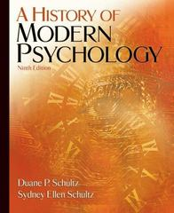 A History of Modern Psychology 9th edition 9780495097990 0495097993