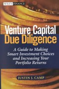 Venture Capital Due Diligence 1st edition 9780471126508 0471126500
