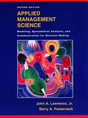 Applied Management Science 2nd Edition 9780471391906 0471391905