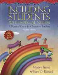 Including Students with Special Needs 4th edition 9780321317742 0321317742