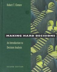 Making Hard Decisions 2nd edition 9780534260347 0534260349