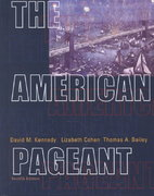 The American Pageant 12th edition 9780618103492 061810349X