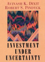 Investment under Uncertainty 0 9780691034102 0691034109