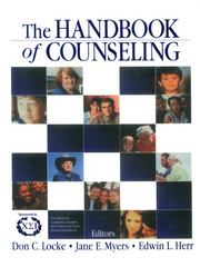 The Handbook of Counseling 1st edition 9780761919933 0761919937