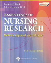 Essentials of Nursing Research 6th edition 9780781749725 0781749727