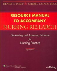 Student Resource Manual with Toolkit to Accompany Nursing Research 8th edition 9780781770521 0781770521