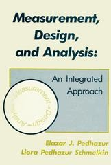 Measurement, Design, and Analysis 1st Edition 9780805810639 0805810633