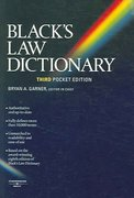 Black's Law Dictionary 3rd edition 9780314158628 0314158626