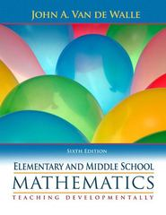 Elementary and Middle School Mathematics 6th Edition 9780205483921 0205483925