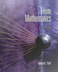 Finite Mathematics 7th Edition 9780495118428 0495118427