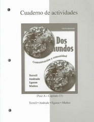 Combined Workbook/Lab Manual to accompany Dos mundos 6th edition 9780073030913 0073030910
