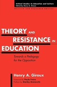 Theory and Resistance in Education 2nd edition 9780897897969 089789796X