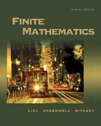 Finite Mathematics 8th Edition 9780321228260 032122826X