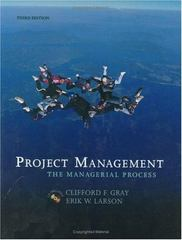 Project Management: The Managerial Process (Mcgraw-Hill/Irwin Series Operations and Decision Sciences) 3rd Edition 9780072978636 0072978635