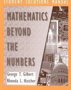 Mathematics Beyond the Numbers, Student Solutions Manual 1st edition 9780471293972 0471293970