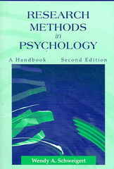 Research Methods in Psychology 2nd edition 9781577664154 1577664159