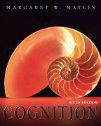 Cognition 6th edition 9780471450078 0471450073