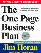 The One Page Business Plan 3rd edition 9781891315091 1891315099