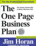 The One Page Business Plan 1st edition 9781891315046 1891315048