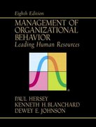 Management of Organizational Behavior 8th edition 9780130175984 0130175986