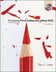 Developing Proofreading and Editing Skills w/ Student CD-ROM Package 5th Edition 9780072976557 0072976551