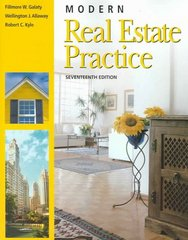 Modern Real Estate Practice 17th Edition 9781419521980 1419521985